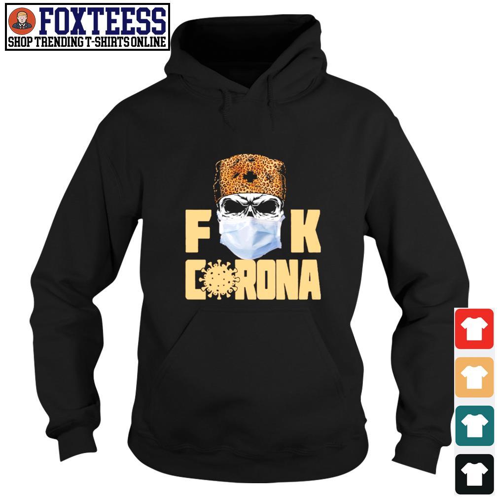 Skull mask leopard fuck corona s hoodie
