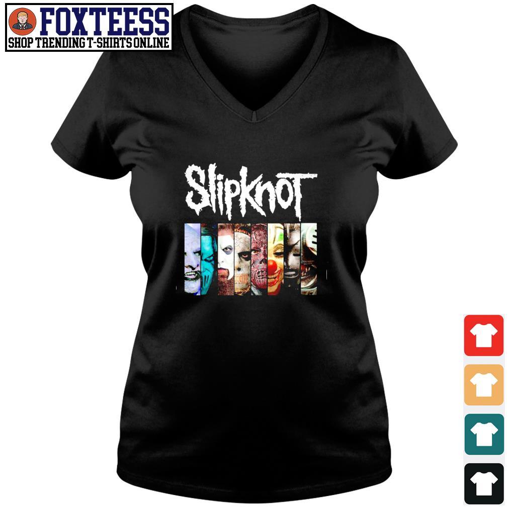 Slipknot band s v-neck t-shirt