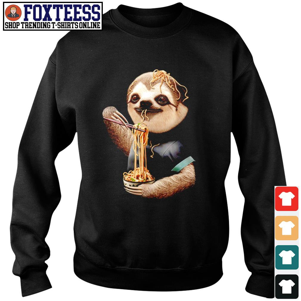 Sloth eating ramen s sweater