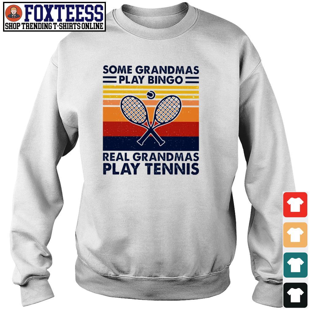 Some grandmas play bingo real grandmas play tennis vintage s sweater