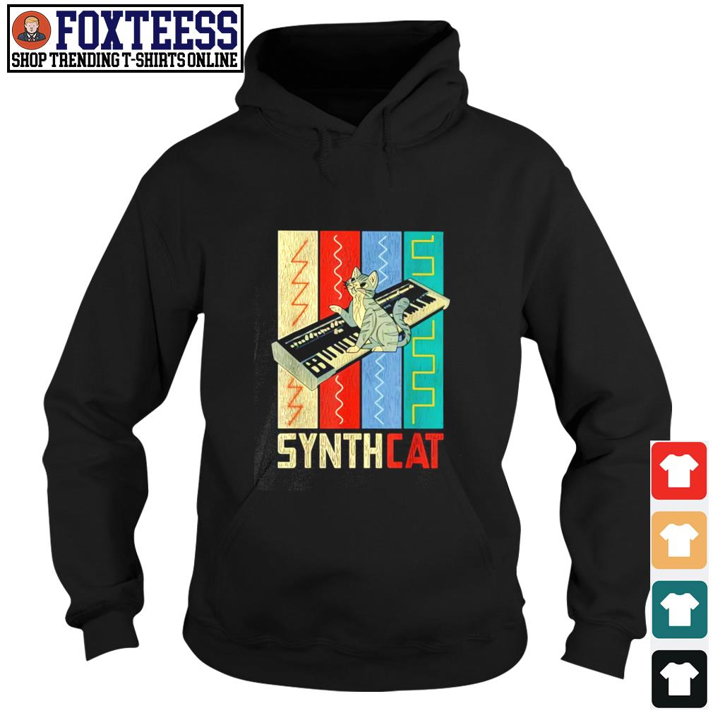 Synthesizer synth cat vintage s hoodie
