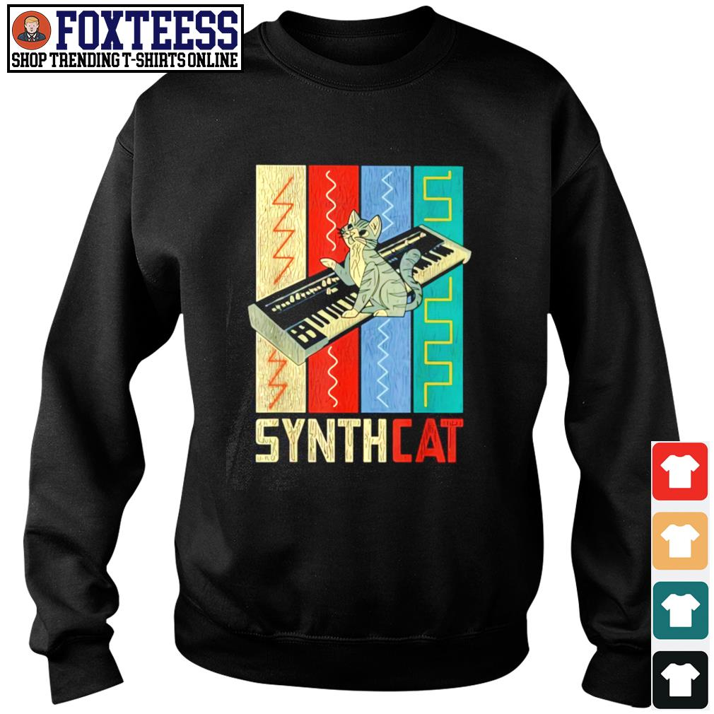 Synthesizer synth cat vintage s sweater