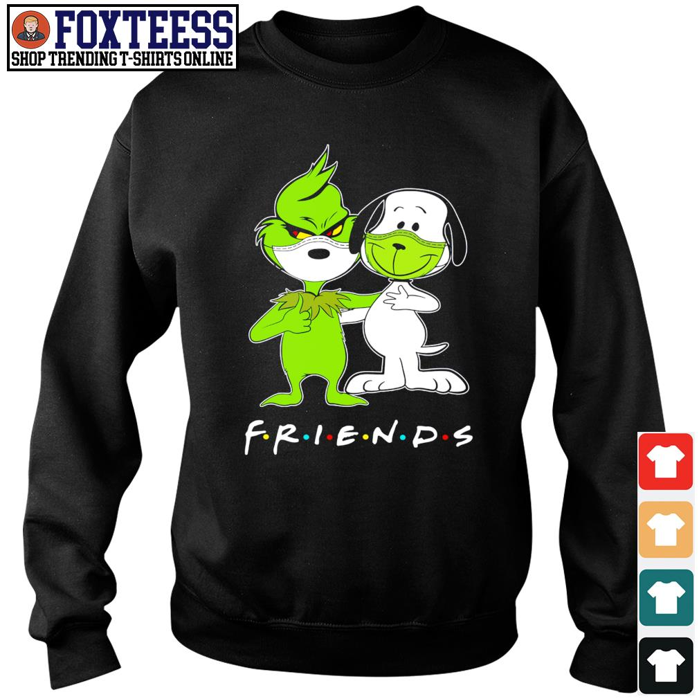 The grinch snoopy mask friends s sweater