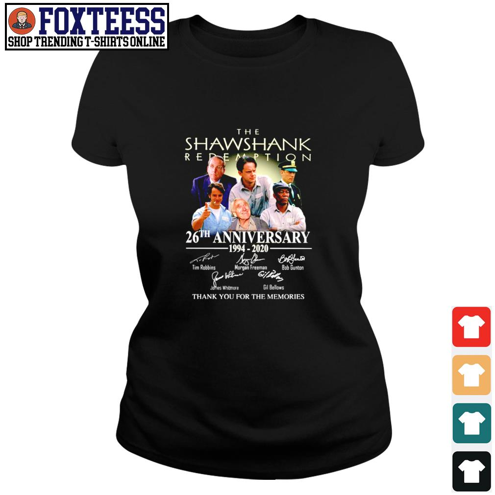 The shawshank 26th anniversary 1994 2020 thank you for the memories s ladies-tee