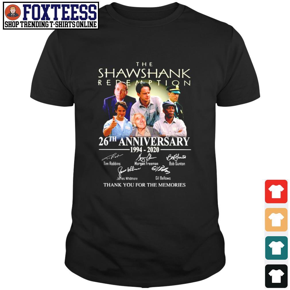 The shawshank 26th anniversary 1994 2020 thank you for the memories shirt