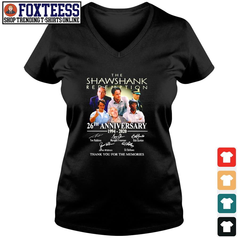 The shawshank 26th anniversary 1994 2020 thank you for the memories s v-neck t-shirt