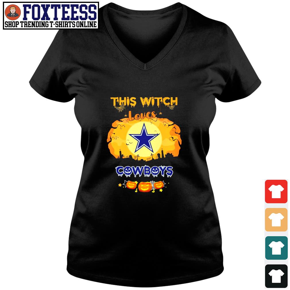 This with loves cowboys s v-neck t-shirt