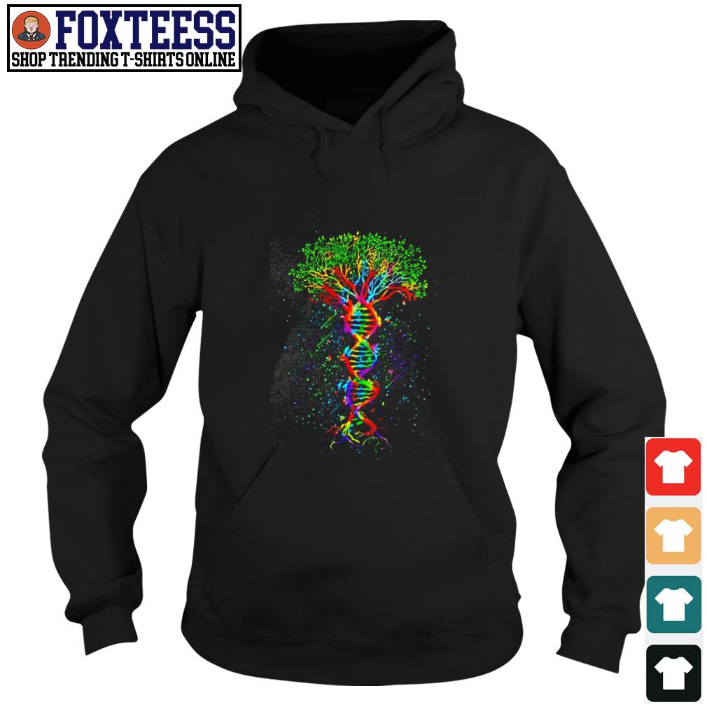 Tree in a DNA LGBT s hoodie