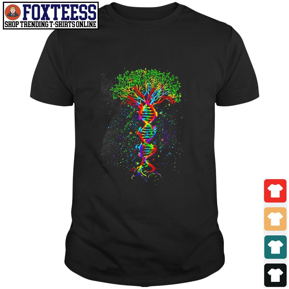 Tree in a DNA LGBT shirt