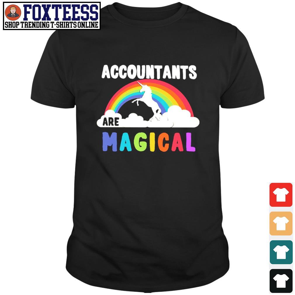 Unicorn accountant are magical rainbow shirt