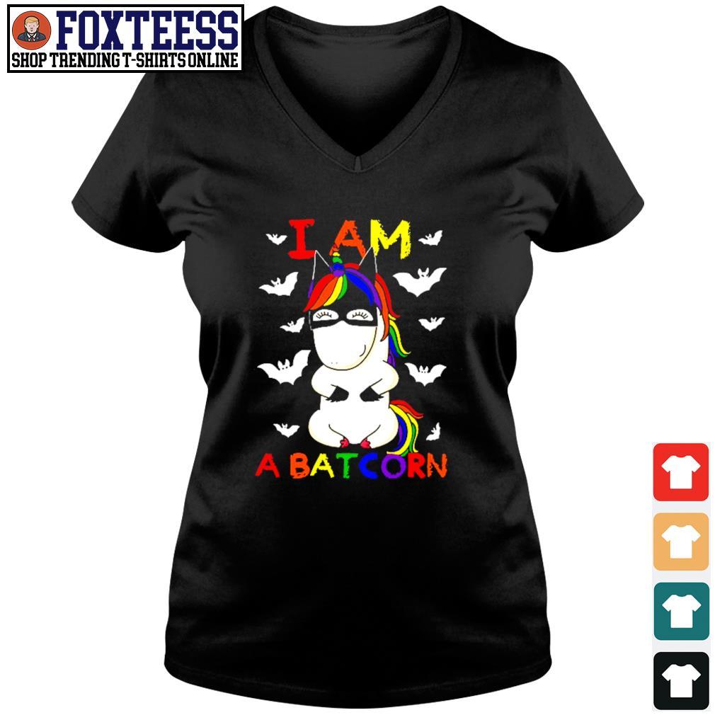 Unicorn I am a batcorn LGBT s v-neck t-shirt