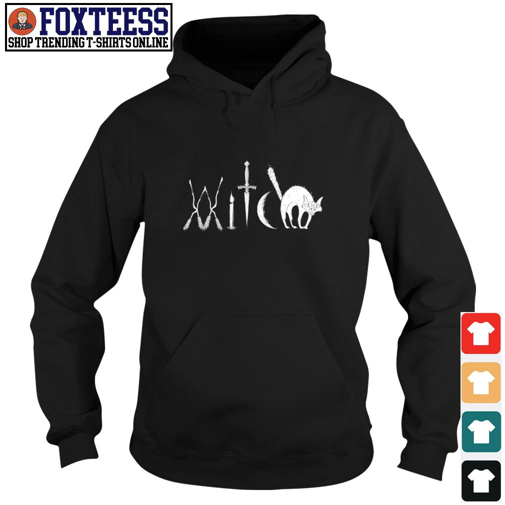 Witch broomstick candle sword moon s hoodie