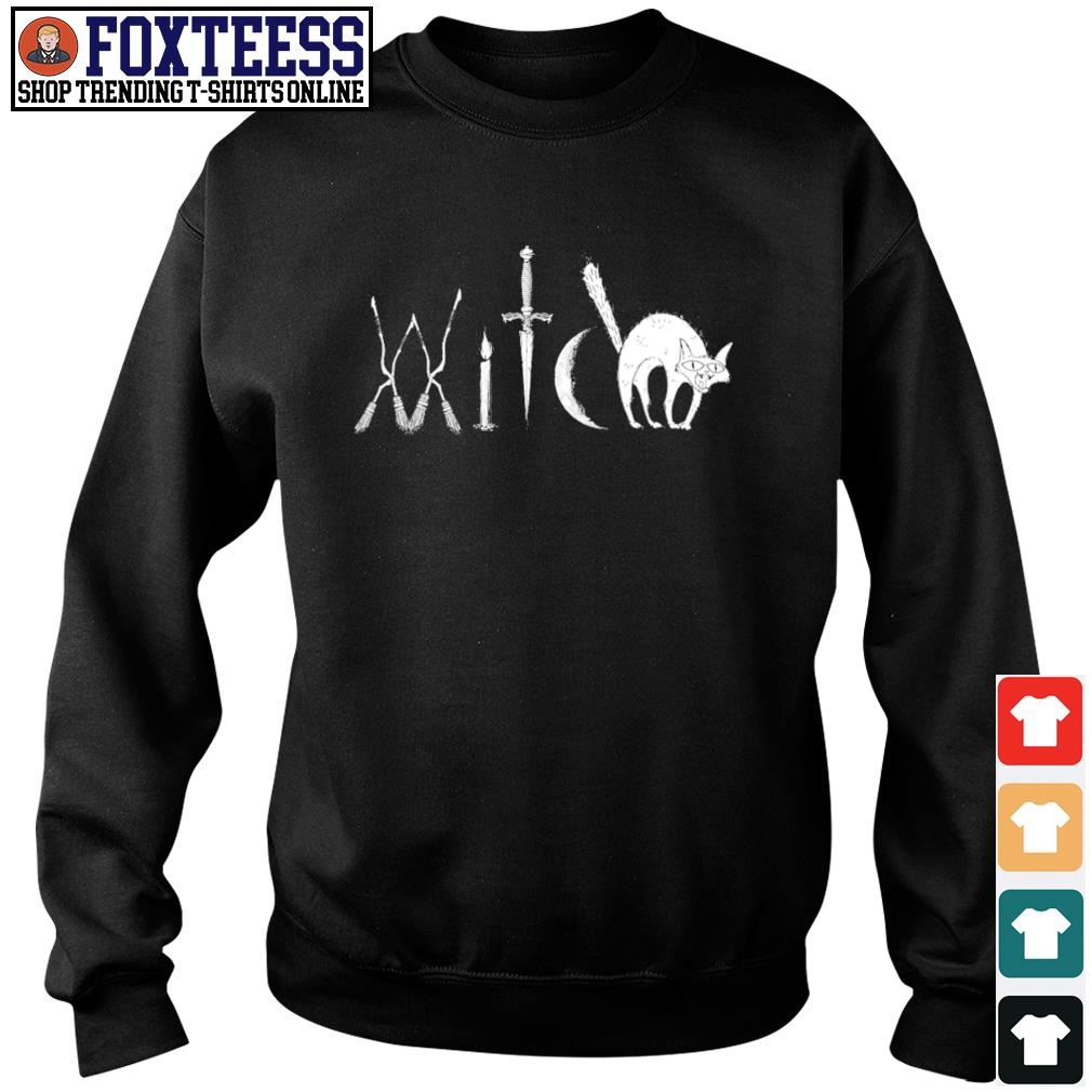 Witch broomstick candle sword moon s sweater