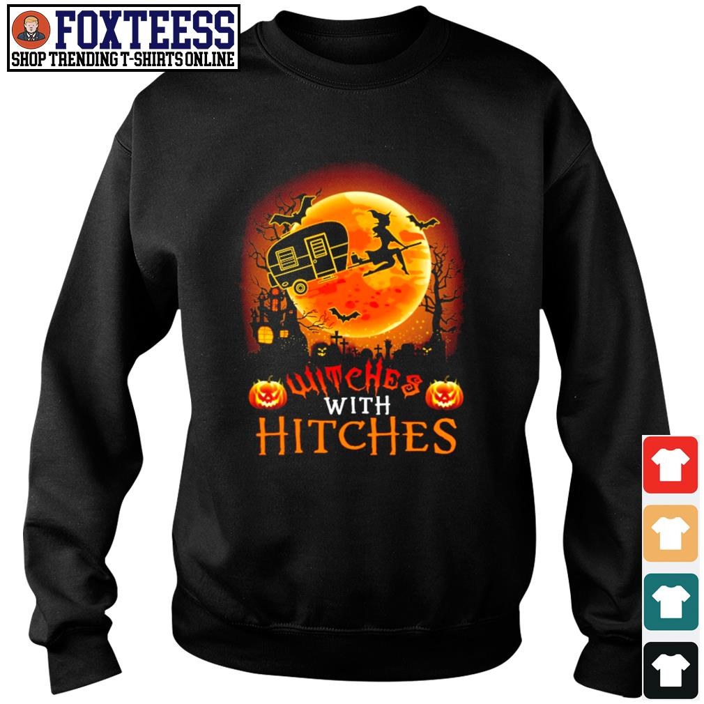 Witches with hitches camping halloween s sweater