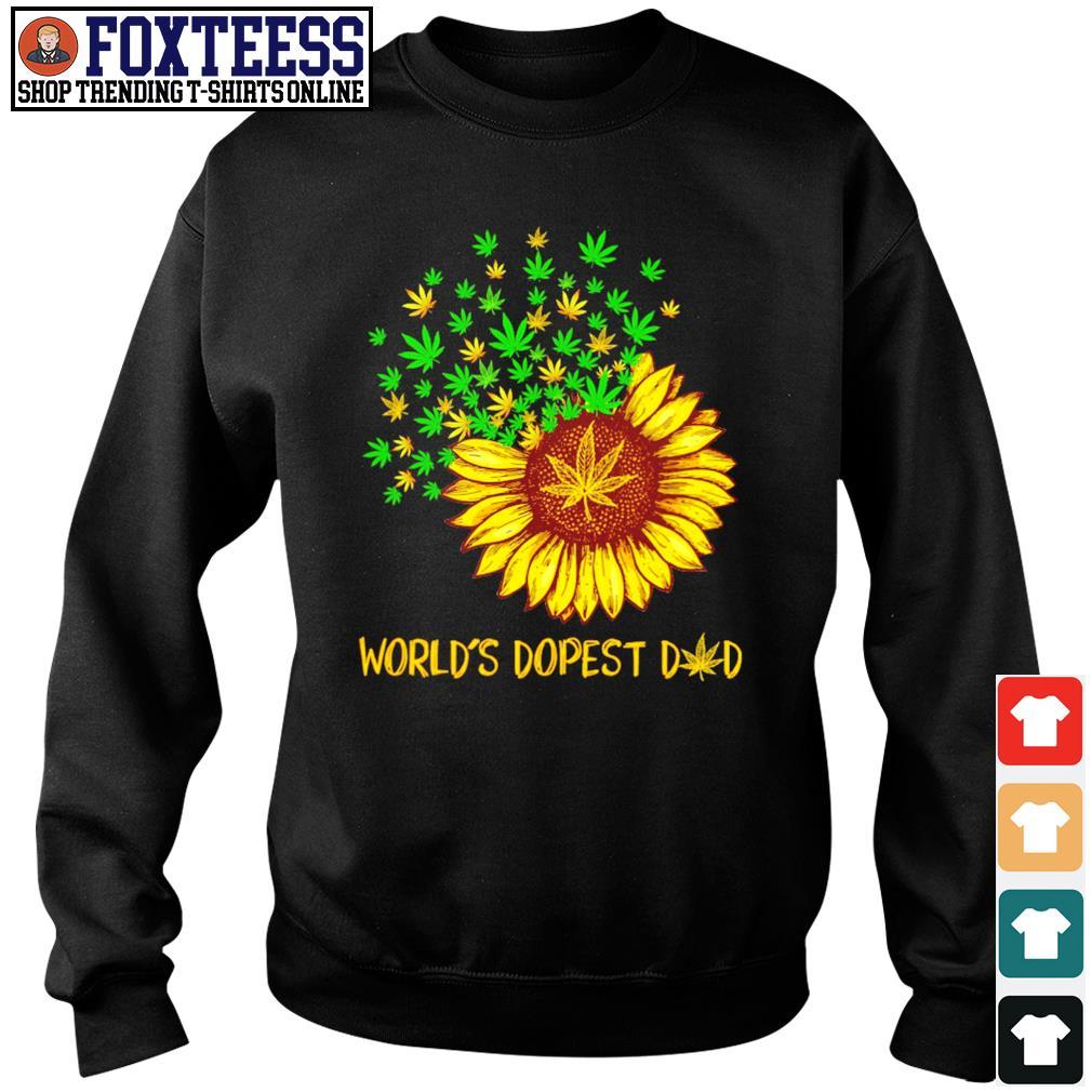 World's dopest dad sunflower weed s sweater