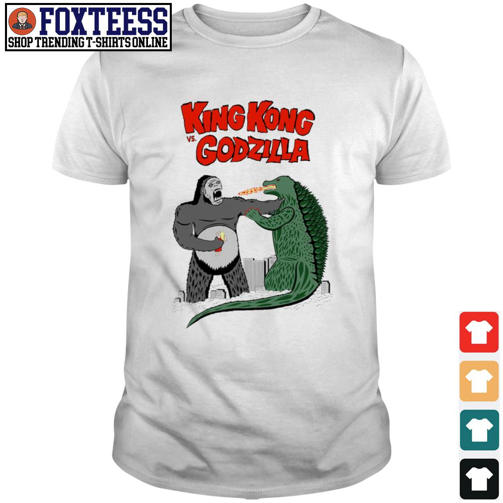 King Kong vs Godzilla cartoon shirt