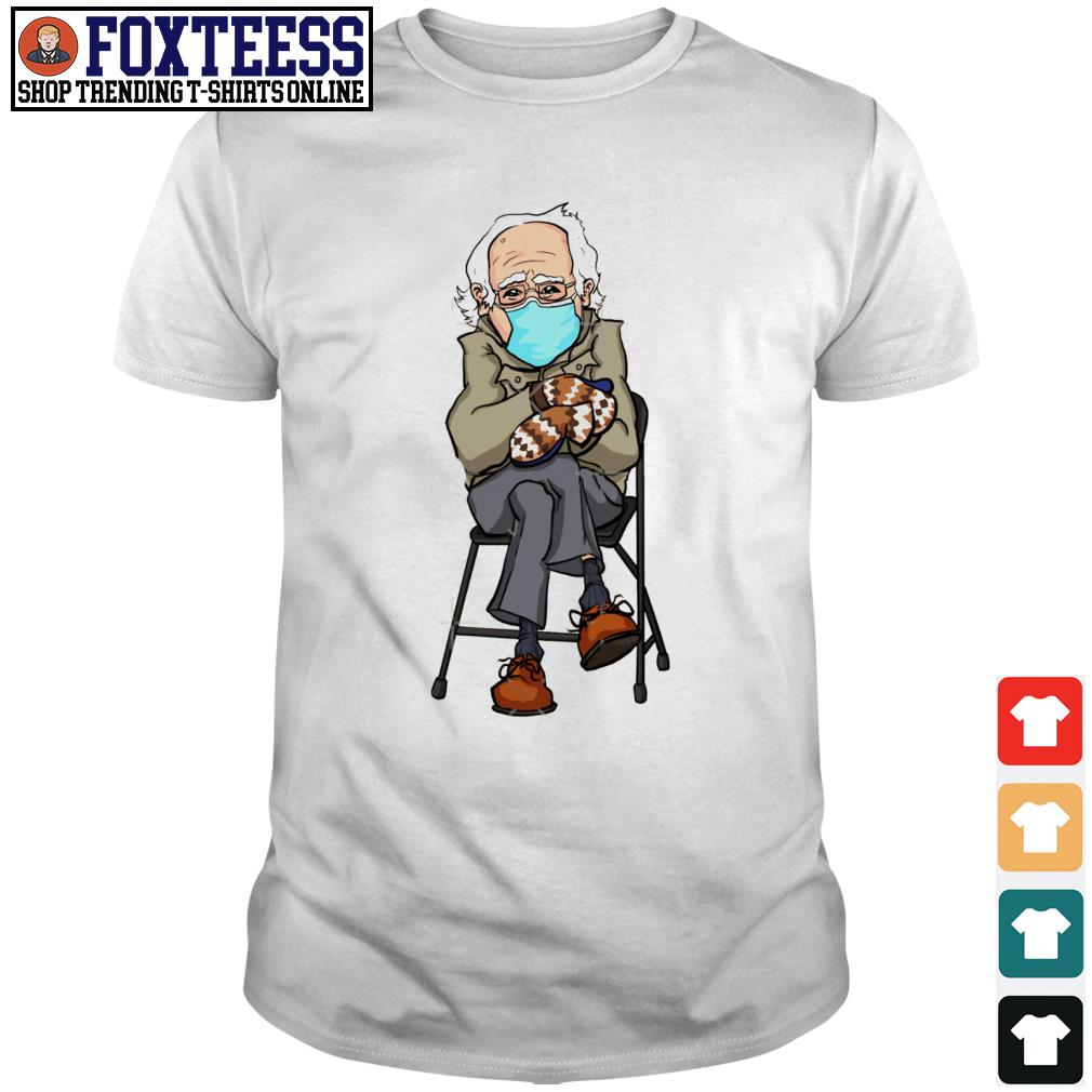 Men's Bernie Sanders wearing face mask shirt