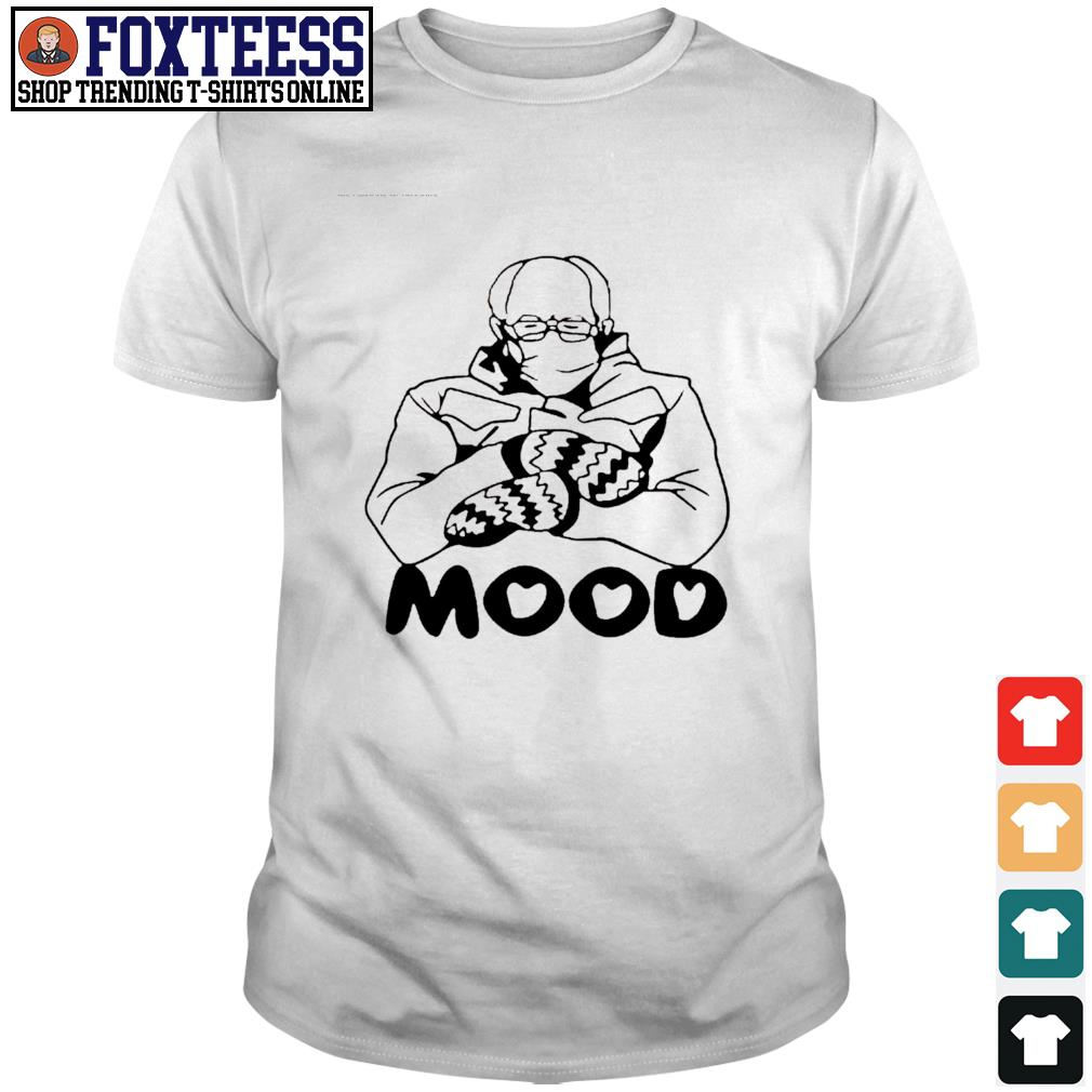 Men's Bernie Sanders wearing mask mood shirt